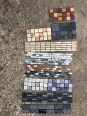 Mosaik Reste Bruch Austellungsstücke