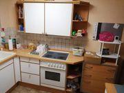 Einbauküche sehr gut erhalten weiß