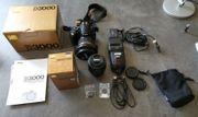 Nikon D3000 Spiegelreflex-Kamera mit viel