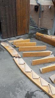 verkaufe historische Holztreppe