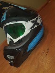 Oneal MTB Fullface Helm Blau