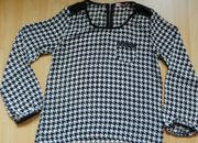 zarte Bluse Gr S schwarz-weiß gemustert