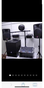 DJ Anlage ohne Lichter