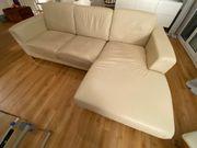Kunstleder Sofa Couch beige