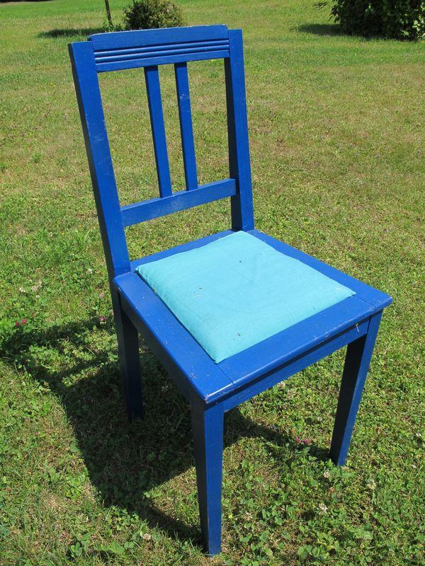 Stuhl antik aus Holz - 2