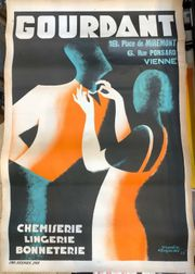 Altes Reklame Plakat Chemiserie Gourdant