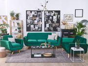 Sofa Set Samtstoff grün 6-Sitzer