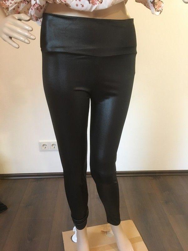 Wet Look Leder Optik Leggings