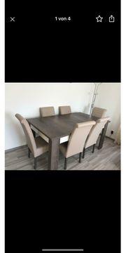 Esszimmer Tisch Stühle in Top