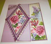 Fertige Glückwunsch-Karten-Blumengrüße mit Umschlag je
