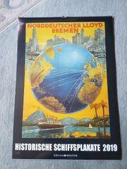 Neuer Kalender Historische Schiffsplakate