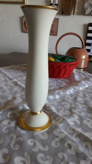 Original Fürstenberg Porzellanvase Elfenbeinporzellan mit