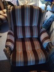 Sessel Set 70er Jahre massive