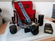 Fotoapparat Praktika TL 1000 zu