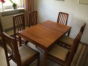 Esstisch mit 6 Stühlen Teak