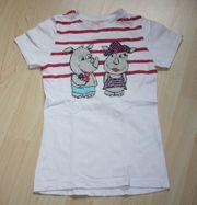 Mädchen Kurzarm T-Shirt Nashorn Kinder