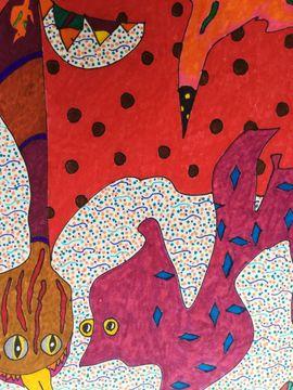 OriginalGemälde v JOHANN LESCHINKOHL Regenwurmkopfschlange: Kleinanzeigen aus Berlin Schöneberg - Rubrik Kunst, Gemälde, Plastik