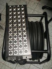 XLR-Multicore auf Trommel mit Stagebox