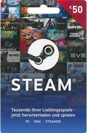 SteamCard Dampfkarte Gutschein abzugeben