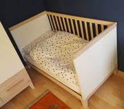Wellemöbel Kinderbett Jacob und Matratze