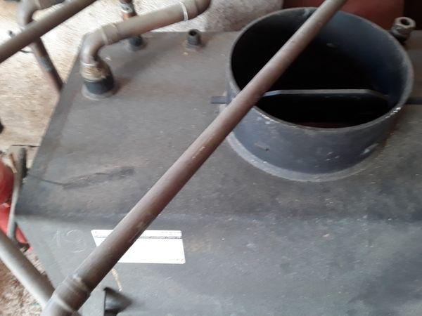 Kachelofen Einsatz mit Warmwasserbereitung ungenützt