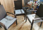 Gartenstühle Braun Rattan