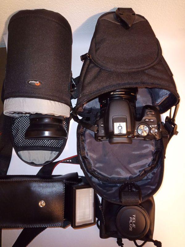 Cannon Spiegelreflexkamera mit Zubehör