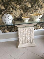 Tisch Couchtisch Konsole Säule Steinmöbel