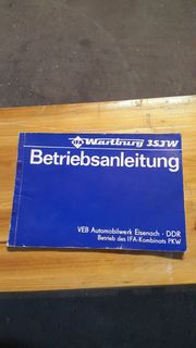Betriebsanleitung Wartburg 353 W