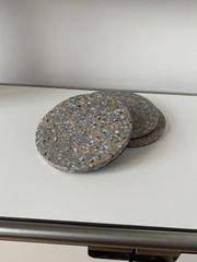 Dänische Stein Untersetzer Steinplatten rund
