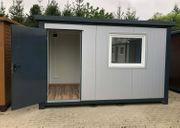 Bürocontainer Gartenhaus Baustellencontainer - 3 50x2
