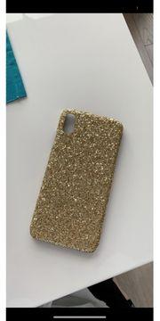 Glitzer handyhülle Gold iPhone X