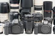 Umfangreiche Canon Ausrüstung -einzeln oder