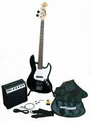 Keytone Jazz E-Bass Set schwarz