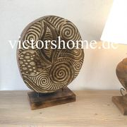 Holzskulptur Mosaik Afrika Dekoration Baumstamm