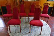 6 Esszimmer-Stühle mit Kirschbaumholz