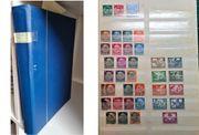 Einsteckalbum mit Briefmarkensammlung DR Saar