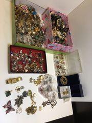 Schmuck Uhren vergoldete Modeschmuck Ohringe