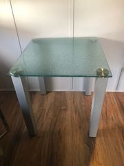 Glastisch für 2 Personen