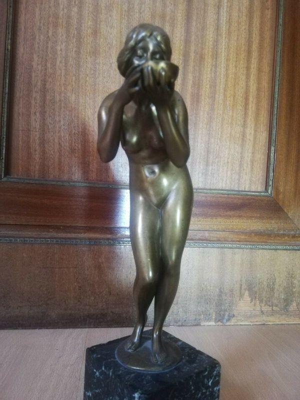 Bronzefigur Victor Seifert Trinkende Signiert
