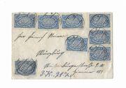 Kuvert mit Briefmarken 8 x