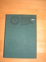 Buch DDR Statistisches Jahrbuch 1974