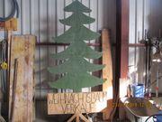 Werbung für Weihnachtsbaum Verkaufmit mitHalter