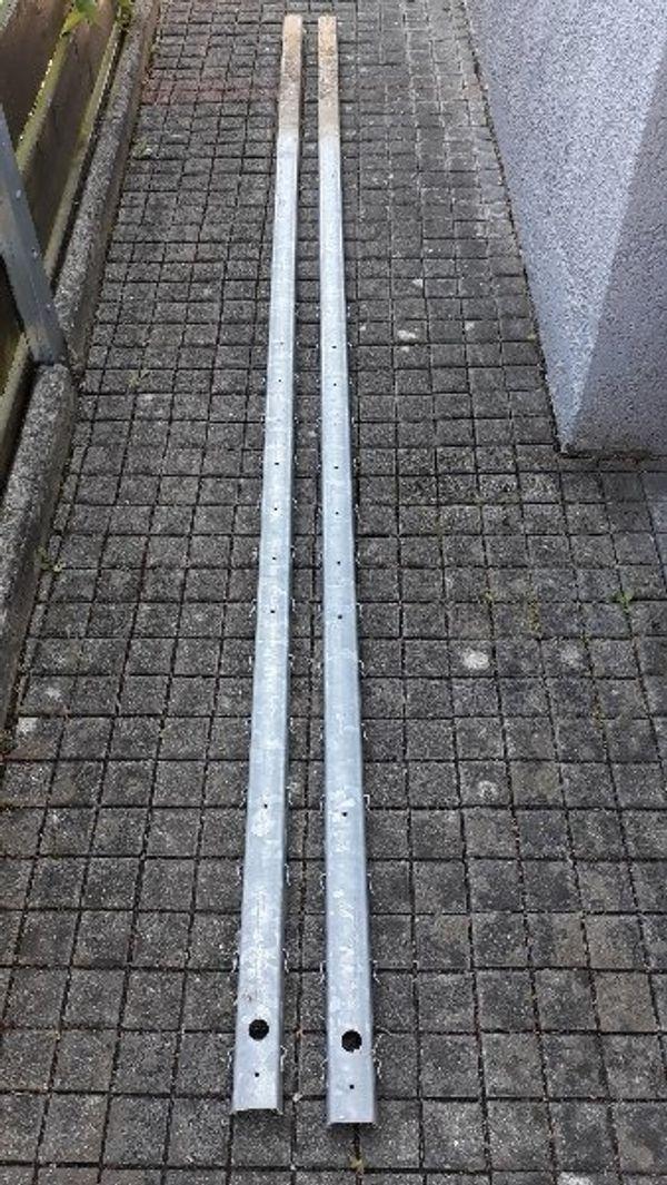 2 Zaunpfosten verzinkt 260 cm