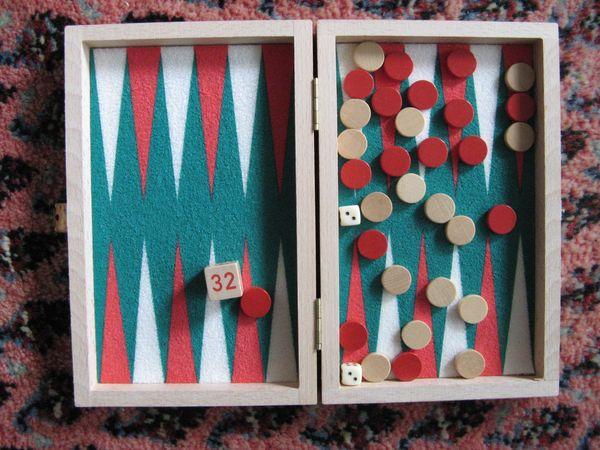 Backgammon-Spiel Reiseversion