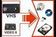 Digitalisierung VHS VIDEO 8 zu