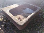 Sandstein rot Waschbecken Becken