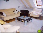 Modernes Sofa-Set 3-teilig Beiges Veloursleder