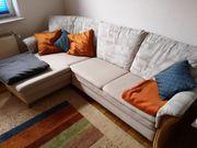 ausziehbare Couch Sofa Wohnlandschaft Federkern