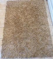hochwertiger Teppich goldbronze 120x170cm